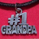 Antiqued Pewter #1 GRANDPA Pendant Necklace U.S.A.