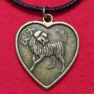 Chinese Zodiac Heart Dog Pendant Cotton Cord Necklace