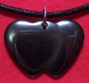 Hemalyke Double Sweetheart Pendant Cotton Necklace