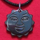Hemalyke Happy Smiling Sun Face Pendant Necklace