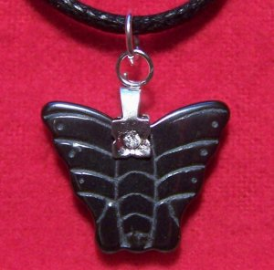 Hemalyke Small Butterfly Pendant Cotton Cord Necklace