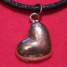 Copper Pewter Love Heart Valentine Pendant Necklace U.S.A.