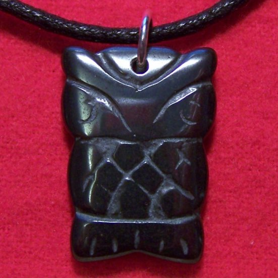 Hemalyke Tribal Owl Pendant Cotton Cord Necklace