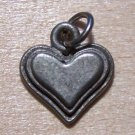 Pewter Love Heart Charm Lead Safe Made in the U.S.A.