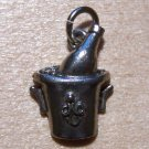 Pewter Bottle of Wine Chilling Charm Lead Safe Made in U.S.A.