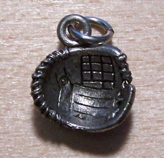 Pewter Baseball Glove Charm Lead Safe Made in the U.S.A