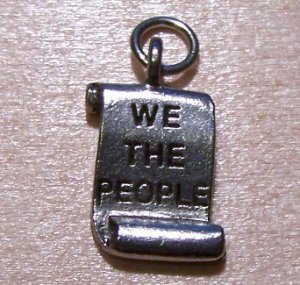 Pewter WE THE PEOPLE Charm Lead Safe Made in the U.S.A.