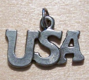 Pewter USA Charm Lead Safe Made in the U.S.A.