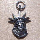 Pewter Statue of Liberty Head Charm Lead Safe Made in U.S.A.