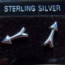 .925 Sterling Silver Arrow Stud Earrings Made in Thailand