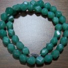 Natural Stone Faceted Green Aventurine Necklace U.S.A.