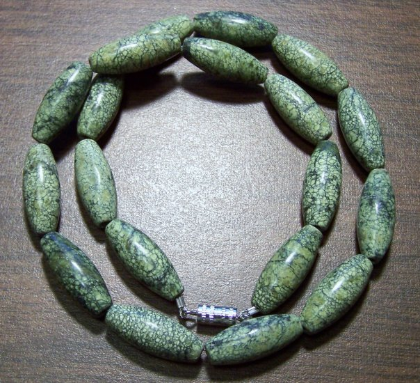 Natural Stone Russian Serpentine Necklace Made in the U.S.A.