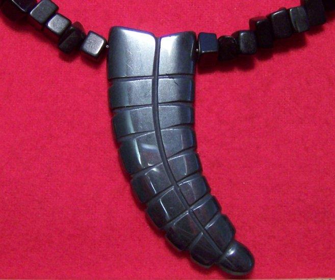 Blackstone Necklace with Hemalyke Rattlesnake Tail Pendant