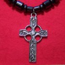 Magnetic Hemalyke Necklace with Pewter Celtic Cross Pendant