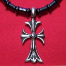 Magnetic Hemalyke Necklace with Pewter Gothic Cross Pendant