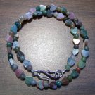 Fancy Jasper with Hearts Necklace Sterling Silver Clasp
