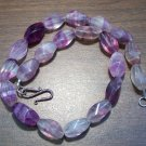 Rainbow Fluorite Necklace with Sterling Silver Clasp U.S.A.
