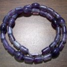 Purple Fluorite Natural Stone Necklace Made in the U.S.A.