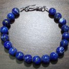 Lapis Lazuli Natural Stone Bracelet with Sterling Silver Clasp
