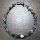 Fancy Jasper with Stars Bracelet Sterling Silver Clasp U.S.A.