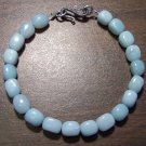 Amazonite Natural Stone Bracelet Sterling Silver Clasp U.S.A.