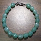 Green Aventurine Natural Stone Bracelet Sterling Silver Clasp