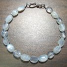Moonstone Natural Stone Bracelet with Sterling Silver Clasp