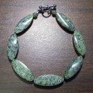 Serpentine Natural Stone Bracelet Made in the U.S.A.