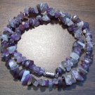 "Amethyst Natural Stone Chip Necklace 18"" Made in U.S.A. asn4"