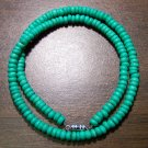 "Tribal Light Green Camel Bone Necklace 18"" Made in U.S.A."