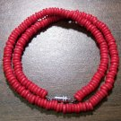 "Tribal Red Camel Bone Necklace 16"" Made in the U.S.A."