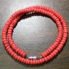 "Tribal Orange Camel Bone Necklace 16"" Made in the U.S.A."