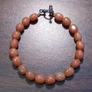 "2r Red Aventurine Natural Stone Bracelet 7.1"" Made in U.S.A."