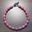"pr1 Rhodonite Natural Stone Bracelet 7.5"" Made in the U.S.A."
