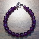 "at1 Amethyst Natural Stone Bracelet 7.1"" Made in the U.S.A."
