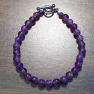 "at2 Amethyst Natural Stone Bracelet 7.3"" Made in the U.S.A."