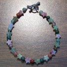 "fj2 Fancy Jasper with Stars Natural Stone Bracelet 7.4"" U.S.A."