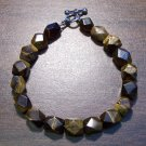 "3a Tiger's Eye Natural Stone Bracelet 7.5"" Made in the U.S.A."