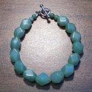 """4g Green Aventurine Natural Stone Bracelet 7"""" Made in U.S.A."""