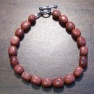 "2gs Goldstone Glass Bracelet 7.5"" Made in the U.S.A."
