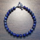 "Lapis Lazuli Natural Stone Bracelet 7.1"" Made in the U.S.A. ll1"