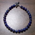 "Lapis Lazuli Natural Stone 7.5"" Bracelet Made in the U.S.A. ll2"