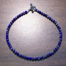 "Lapis Lazuli Natural Stone 9.5"" Anklet Made in the U.S.A."