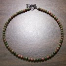 "Unakite Natural Stone 10.5"" Anklet Made in the U.S.A."