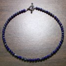"Lapis Lazuli Natural Stone 10.5"" Anklet Made in the U.S.A."