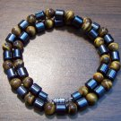 "Tiger's Eye & Magnetic Hemalyke 18"" Necklace Made in U.S.A."