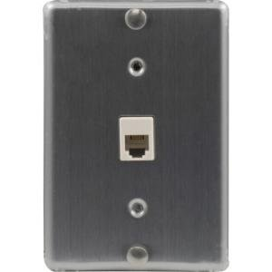 Allen Tel Stainless Steel Wall Phone Jack - 4 Conductor, 6 Position Screw Terminals AT630A-4