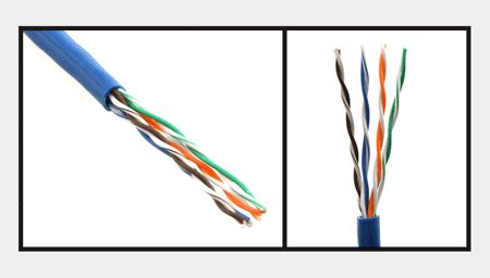 Ethernet CAT 5E Cat5e Solid Cable Network Wiring 4 Pair Blue 1000ft Pull Box 350Mhz