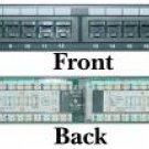 "24 Port Cat5e Patch Panel, 110 Type, 568a 568b, 19"" Rackmount"