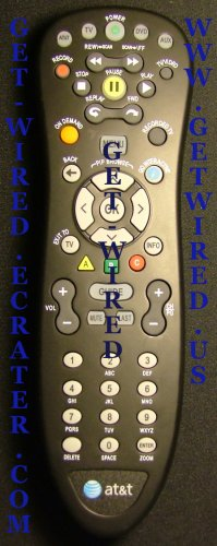 AT&T U-verse ATT Uverse Universal Remote Control Replacement OEM Black Models S10-S1 S2 S3